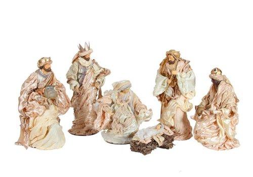 Relart Kerst Groep, 6 delig met Prachtige gewaden, 60 cm.