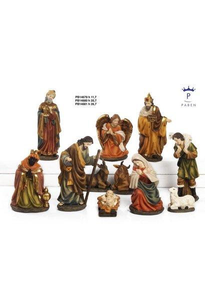 11 - delige Grote Kerstgroep