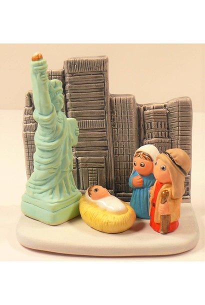 Kerststal New York