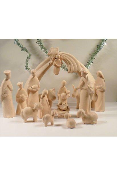 16 - Teilige Grosse Weihnachtsgruppe