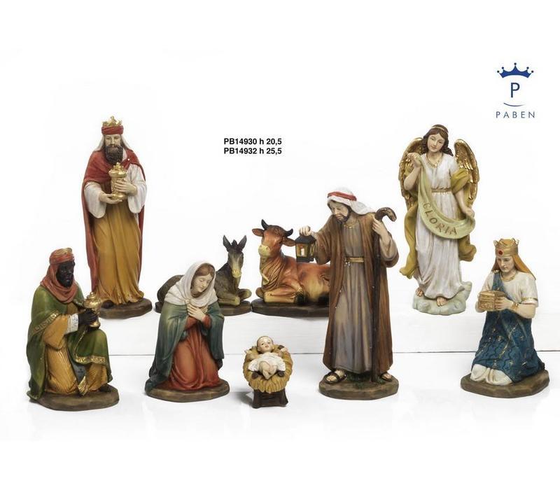 Klassieke Kwaliteits Kerststal, 9 delig