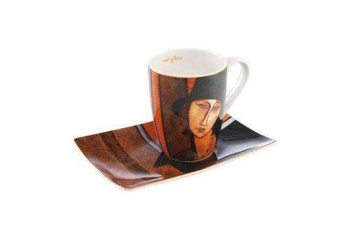 Amedeo Modigliani Amedeo Modigliani:  Frau mit Hut - Künstlerbecher