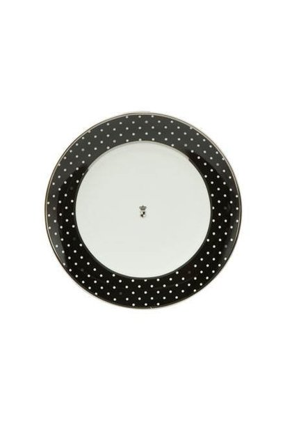 Black and White: Dots - dessertbord