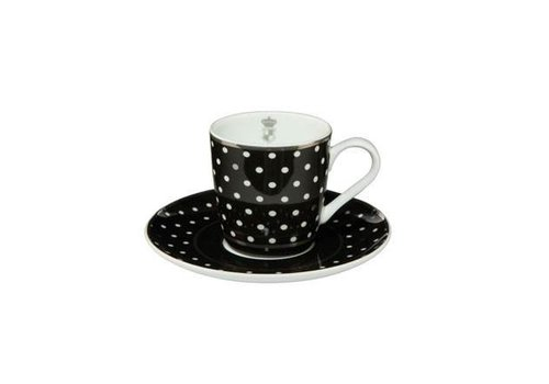 Black and White Black and White: Dots - Espressotasse