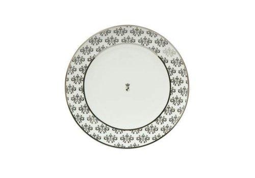 Black and White Black and White: Bloemen - dessertbord