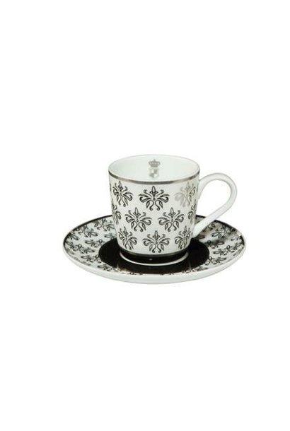 Black and White: Floral - Espressotasse