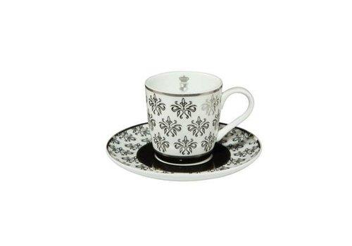 Black and White Black and White: Floral - Espressotasse
