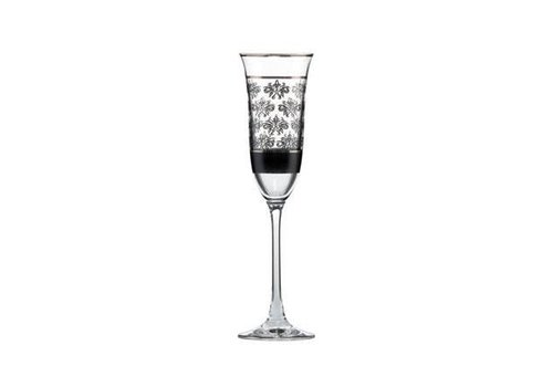 Black and White Black and White: Bloemen - champagneglas