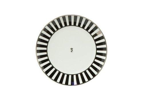 Black and White Black and White: Stripes - Dessertteller