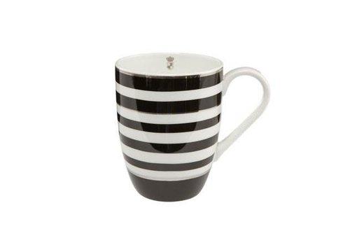 Black and White Black and White: Stripes - Künstlertasse