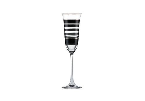 Black and White Black and White: Strepen - champagneglas
