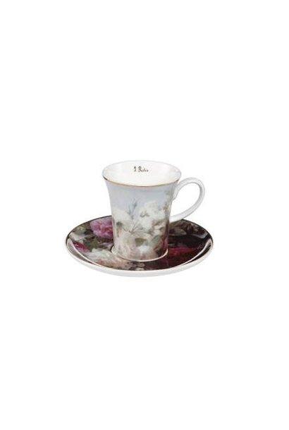 Jean Baptiste Robie: Stilleven met bloemen - Espresso Cup