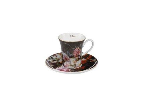 Jean Baptiste Robie Jean Baptiste Robie: Stilleven met rozen - Espresso Cup