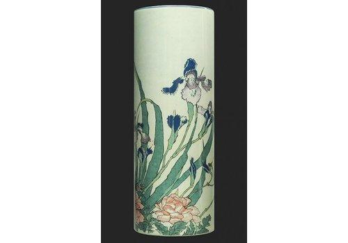 Katsushika Hokusai Vase Hokusai, Irises=Peonies-Sparrows