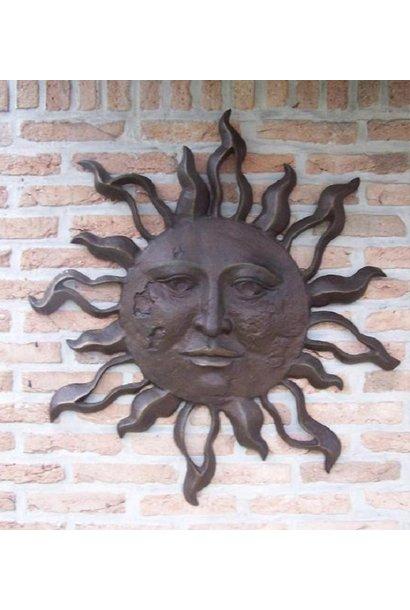 Grote zon muurdecoratie