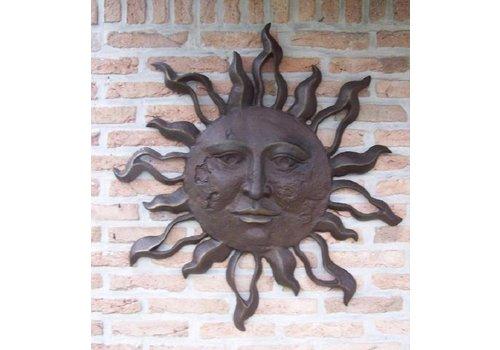 BronzArtes Bronzen Beeld: Grote zon muurdecoratie