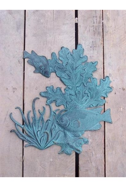 Fish &coral wall plaque