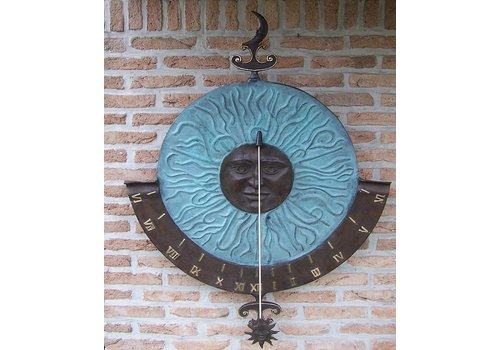BronzArtes Big sundial wall decoration