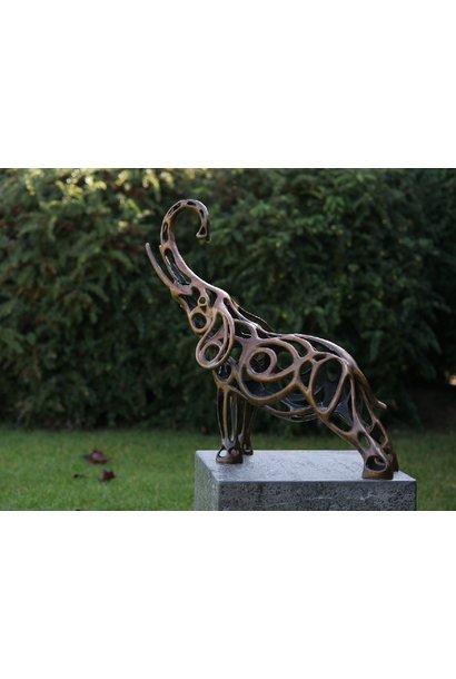Elephant wire sculpture