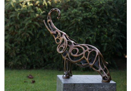 BronzArtes Olifant draadsculptuur