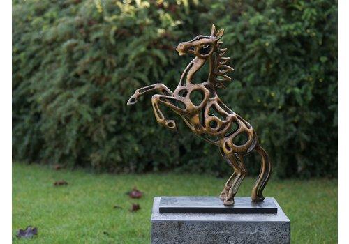 BronzArtes Bronzen Beeld: Paard draadsculptuur
