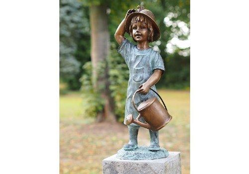 BronzArtes Bronzen Beeld: Meisje met gieter