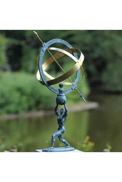 Man holds sundial