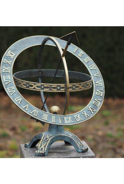 Zonnewijzer 42 cm. Draaiende ring