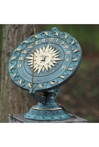 Floral dish sundial
