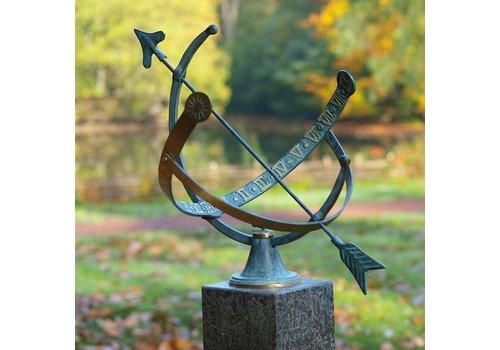 BronzArtes Bronzestatue: Sonnenuhr