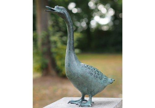 BronzArtes Bronzestatue: Gans 38 cm