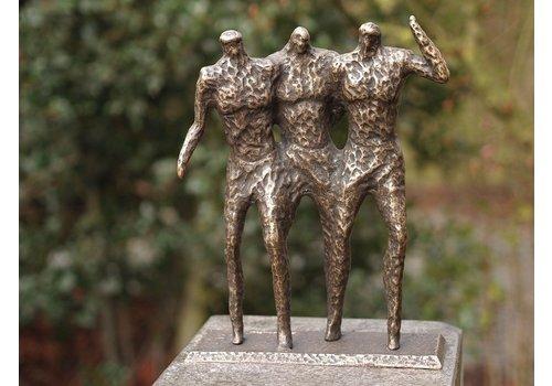 BronzArtes Bronzen Beeld: 3 mannen modern