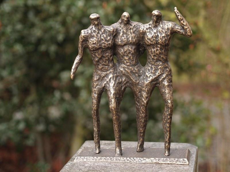 Bronze Statue:   3 Men modern sculpture-1