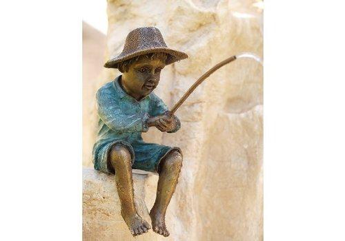 BronzArtes Bronzestatue: Fischer / Brunnen