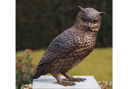 BronzArtes Bronzestatue: Eule