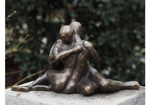 BronzArtes Bronzestatue: Modernes verliebtes Paar