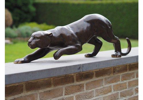 BronzArtes Bronzestatue: Leopard 92 cm