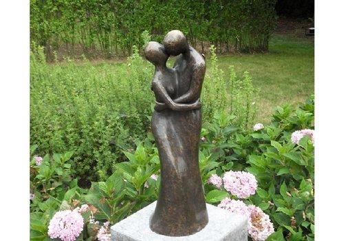 BronzArtes Bronzen Beeld: Modern liefdespaar