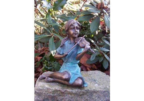 BronzArtes Bronzen Beeld: Vioolspeelster