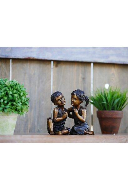 Lachend kinderpaar