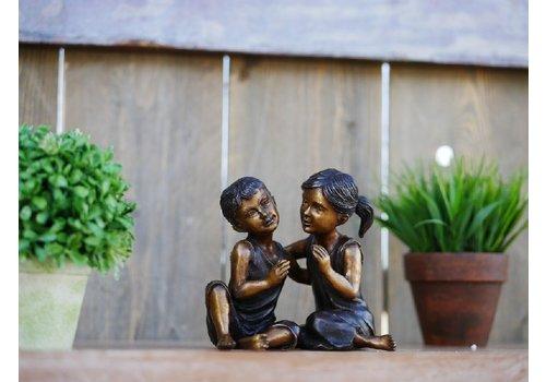 BronzArtes Lachendes Kinderpaar