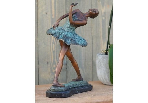 BronzArtes Bronzen Beeld: Ballerina 31 cm