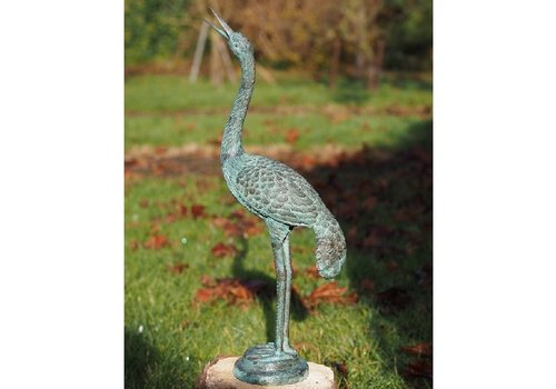 BronzArtes Bronzen Beeld: Kleine kraanvogel