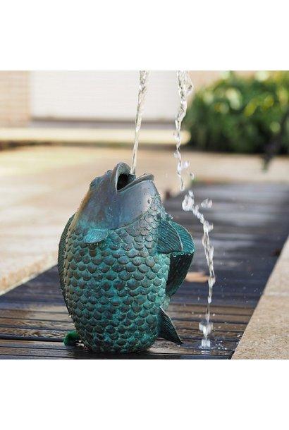 Springende vis fontein