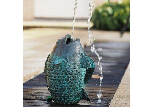 BronzArtes Bronzestatue: Springender Fischbrunnen