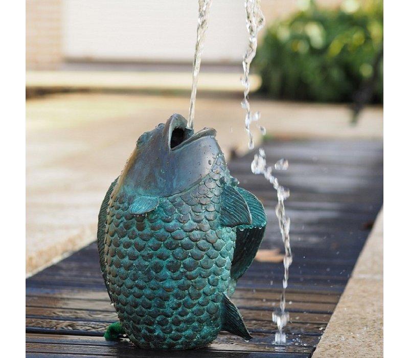 Bronzestatue: Springender Fischbrunnen