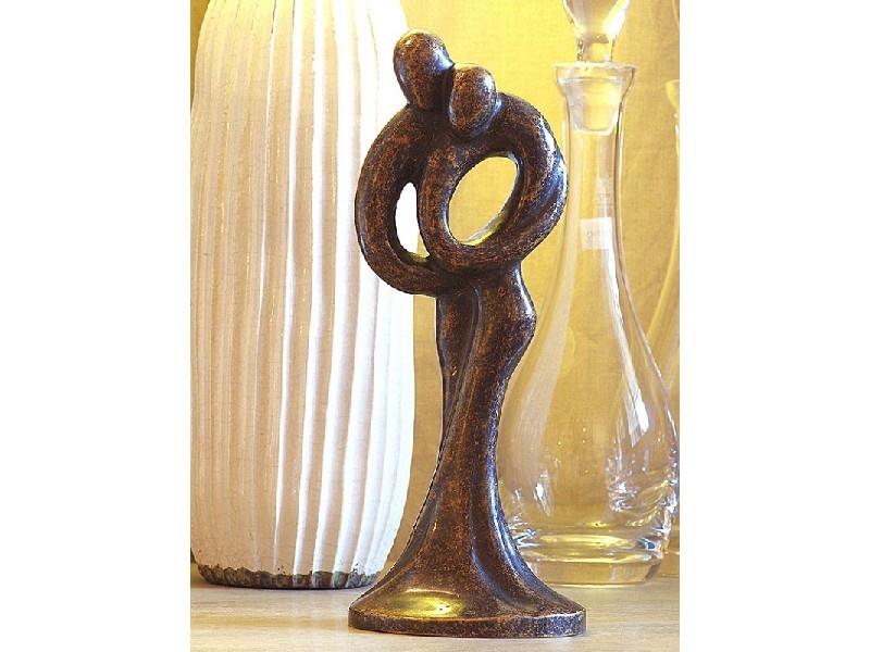 Bronzen Beelden:   Abstract Liefdespaar 30 cm-1
