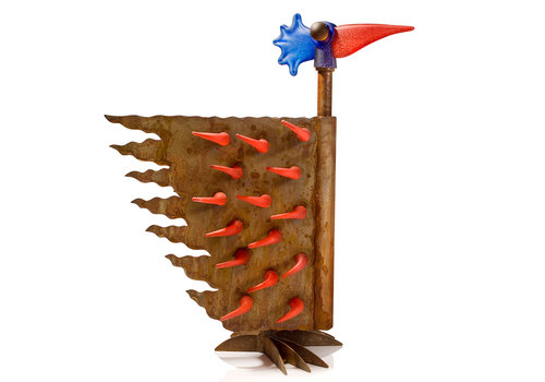 Outdoor Objects FIREBIRD SMALL - buitensculptuur, rood