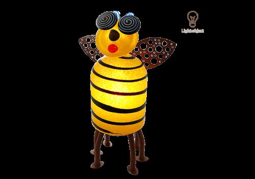 Outdoor Objects SUZY BEE - Lichtobjekt, gelb-schwarz