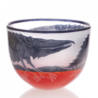 "BOWL - Bowl, two-coloured, ""Fish""/""Bird""/""Alligator"""